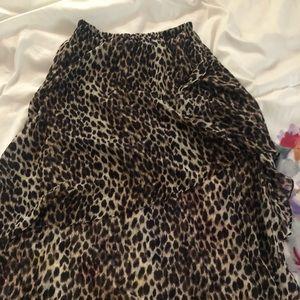 Skirt high low cheetah